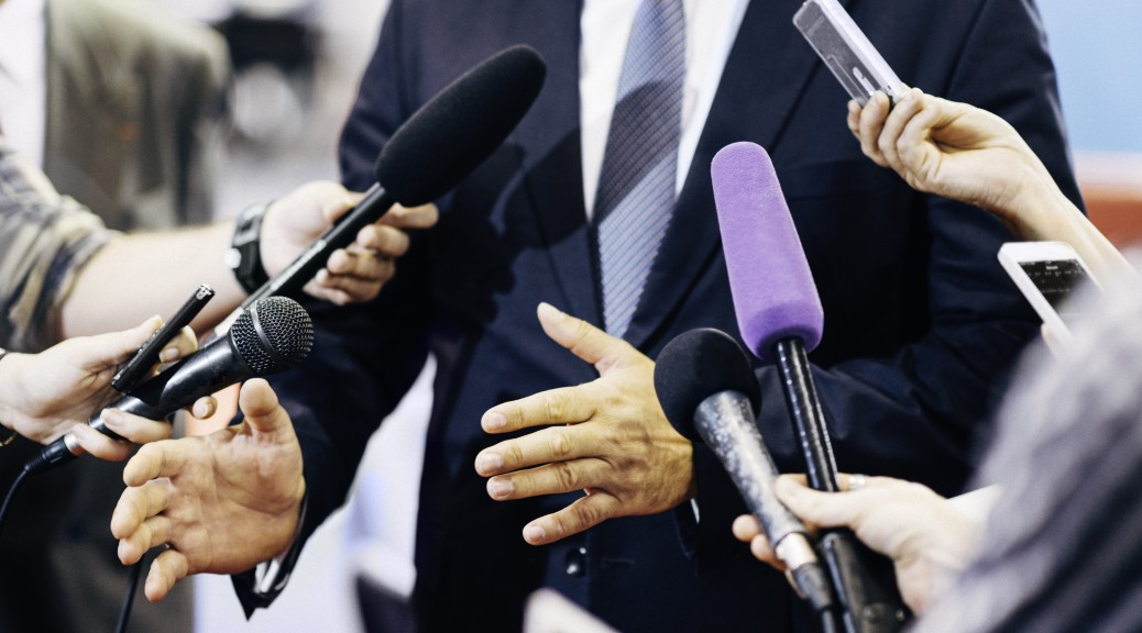 Media interview with politician or business person