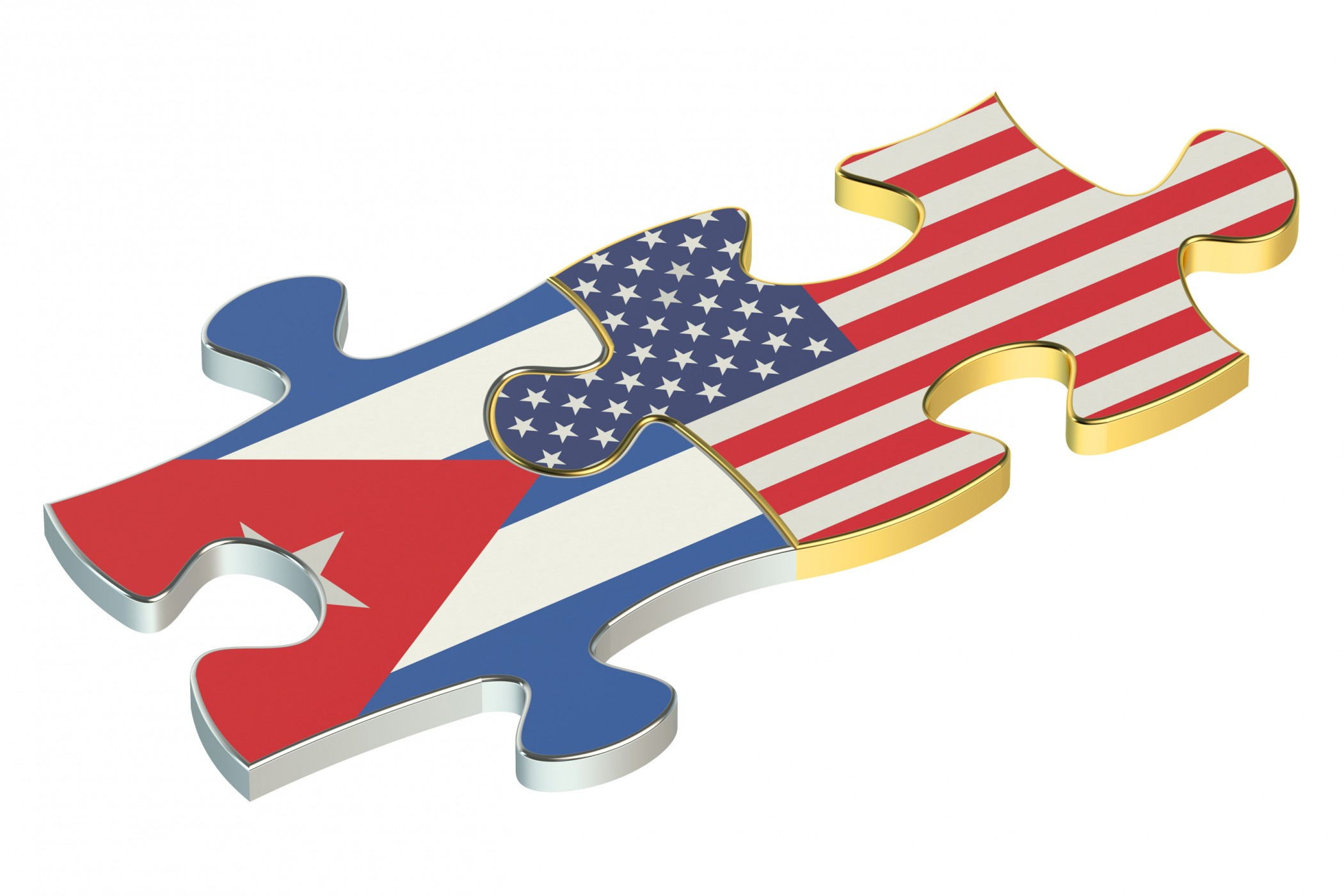 USA and Cuba puzzles from flags